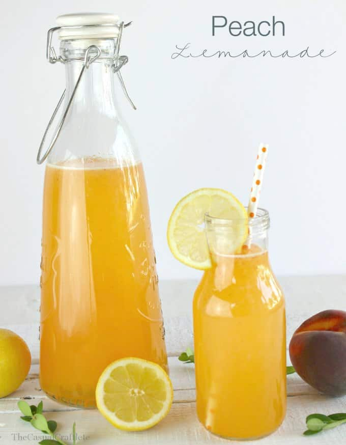 Peach Lemonade by www.thecasualcraftlete.com