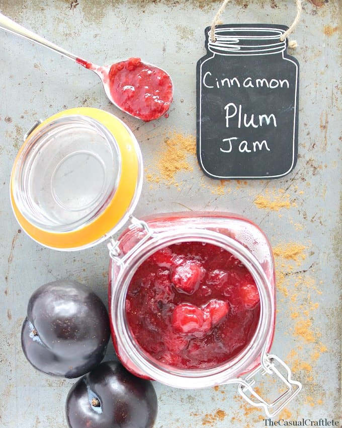 Clean Eating Cinnamon Plum Jam from www.thecasualcraftlete.com