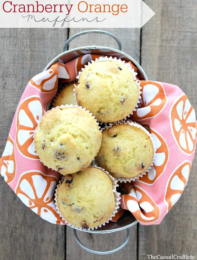 Cranberry Orange Muffins by www.thecasualcraftlete.com