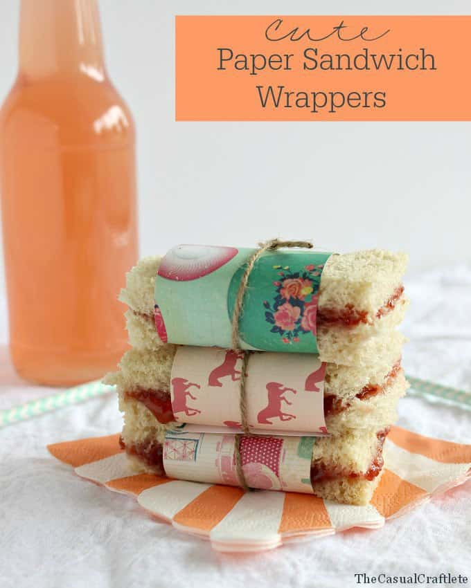 Cute Paper Sandwich Wrappers - Great for parties or after school snacks