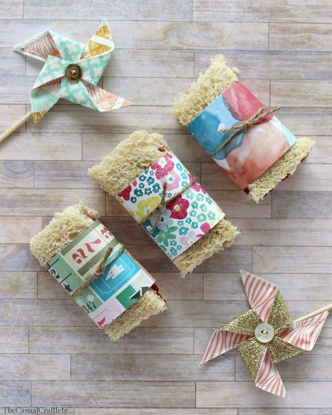 Cute Paper Sandwich Wrappers Great for parties or after school snacks