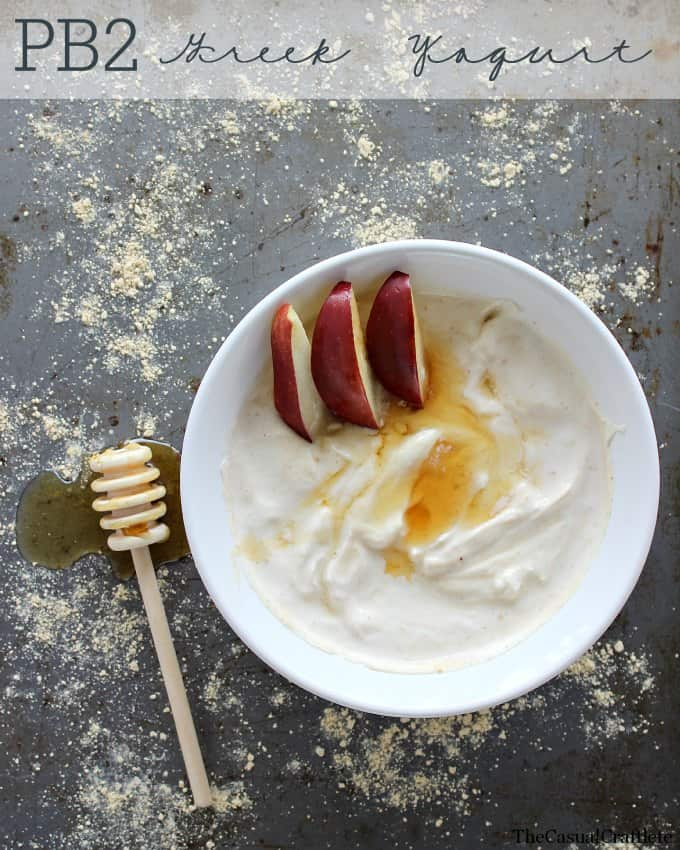 Healthy and Quick PB2 Greek Yogurt