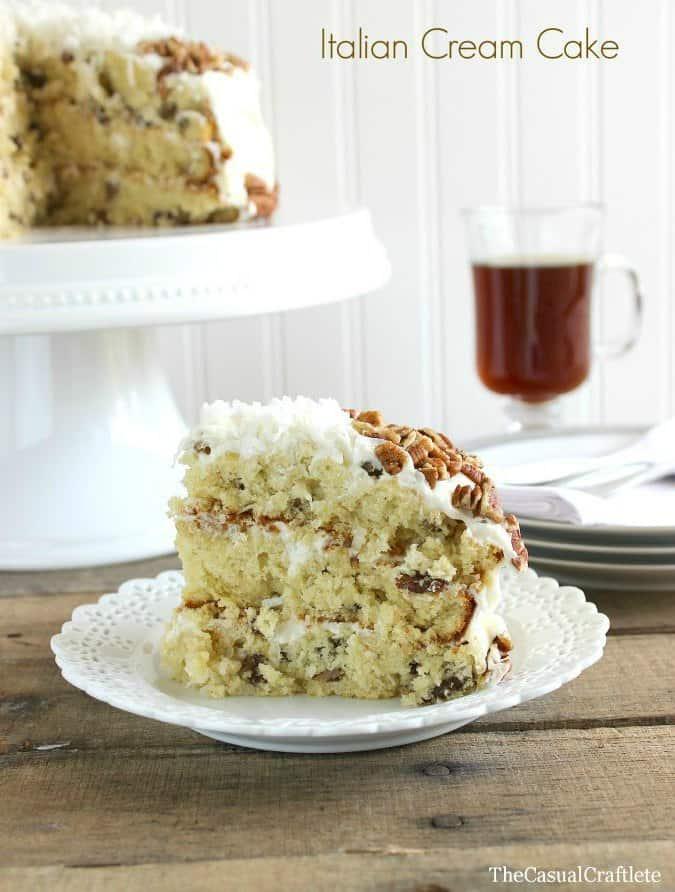 Italian Cream Cake www.thecasualcraftlete.com