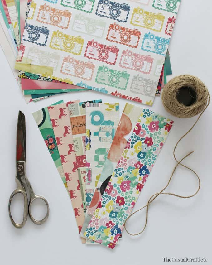 Make cute sandwich wrappers using scrapbook paper