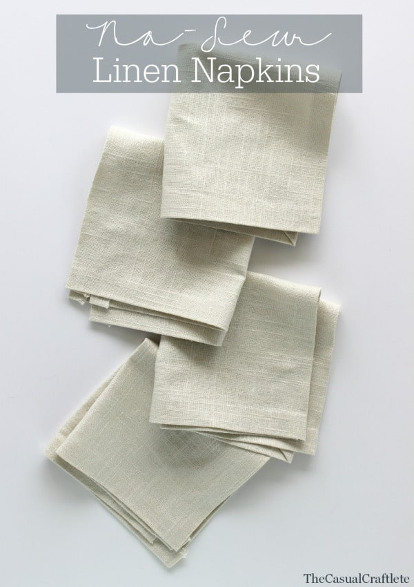No-Sew Linen Napkins  The Casual Craftlete for Place of my Taste