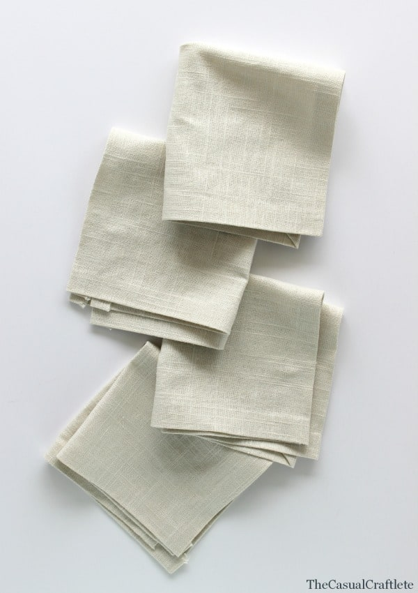 No Sew Linen Napkins by www.thecasualcraftlete.com for  www.placeofmytaste.com