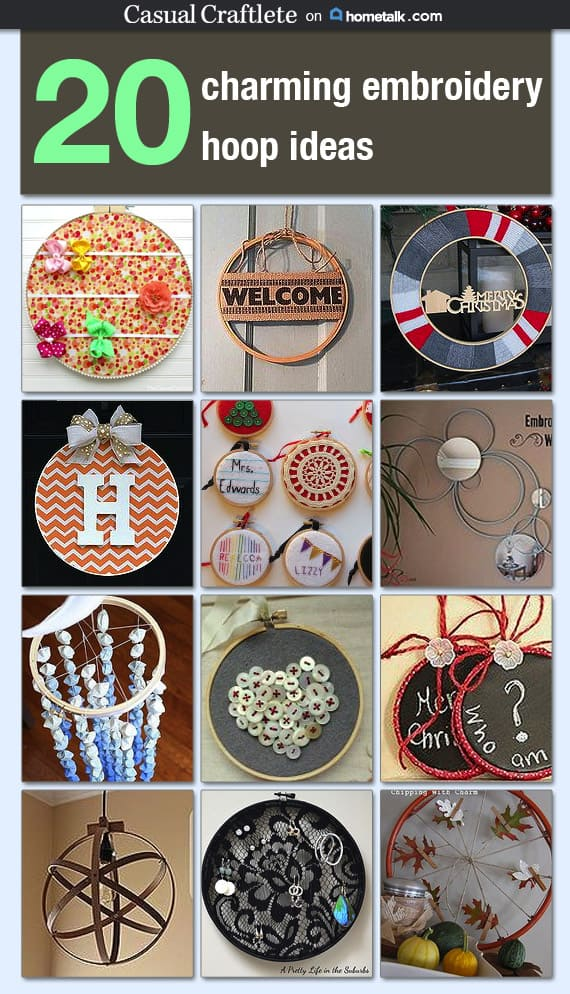 20 Charming Embroidery Hoop Ideas