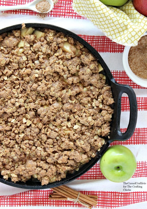Apple and Pear Skillet Crumble by The Casual Craftlete for The Crafting Chicks