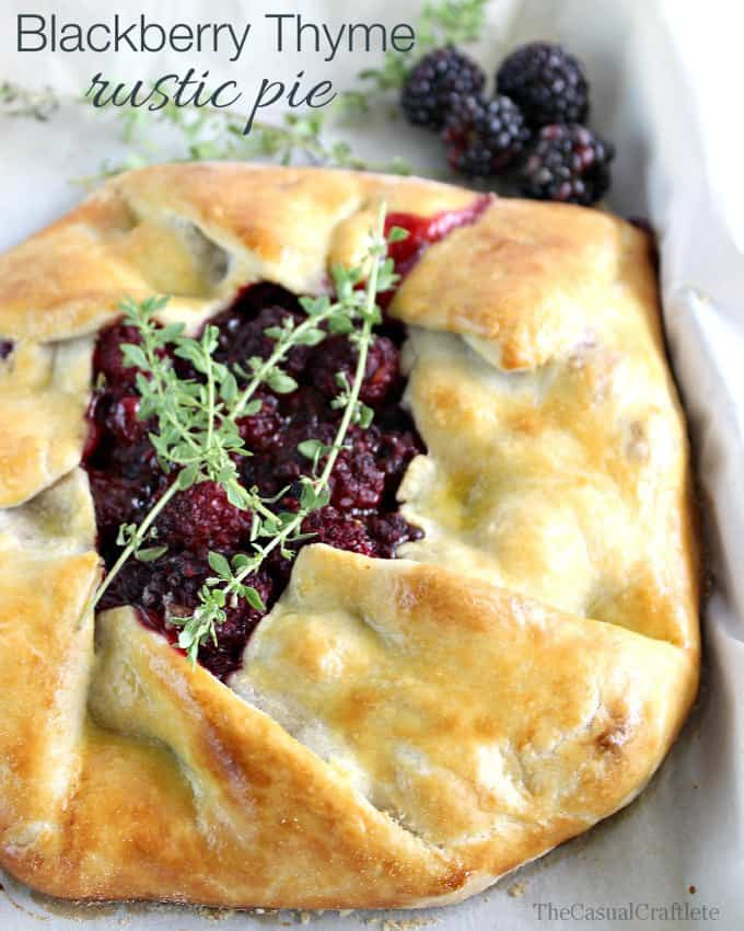 Blackberry Thyme Rustic Pie featured at the Saturday Night Fever Link Party