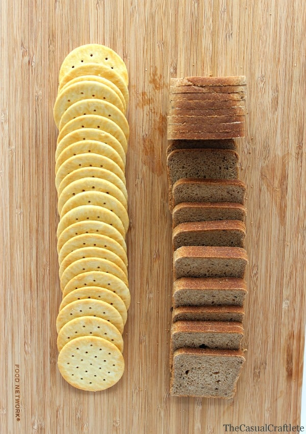 Bread and crackers for cheese board by www.thecasualcraftlete.com  for www.placeofmytaste.com