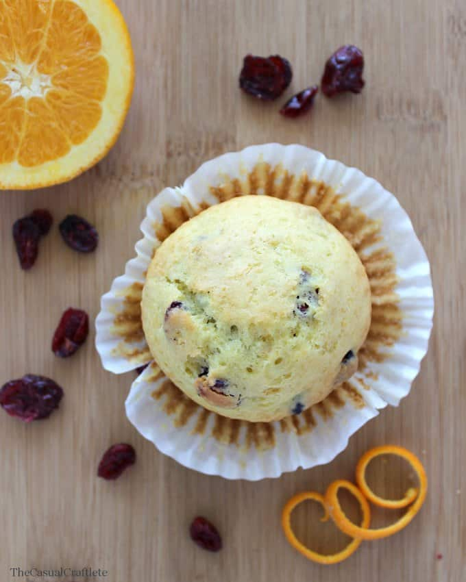 Cranberry-Orange Muffins by The Casual Craftlete