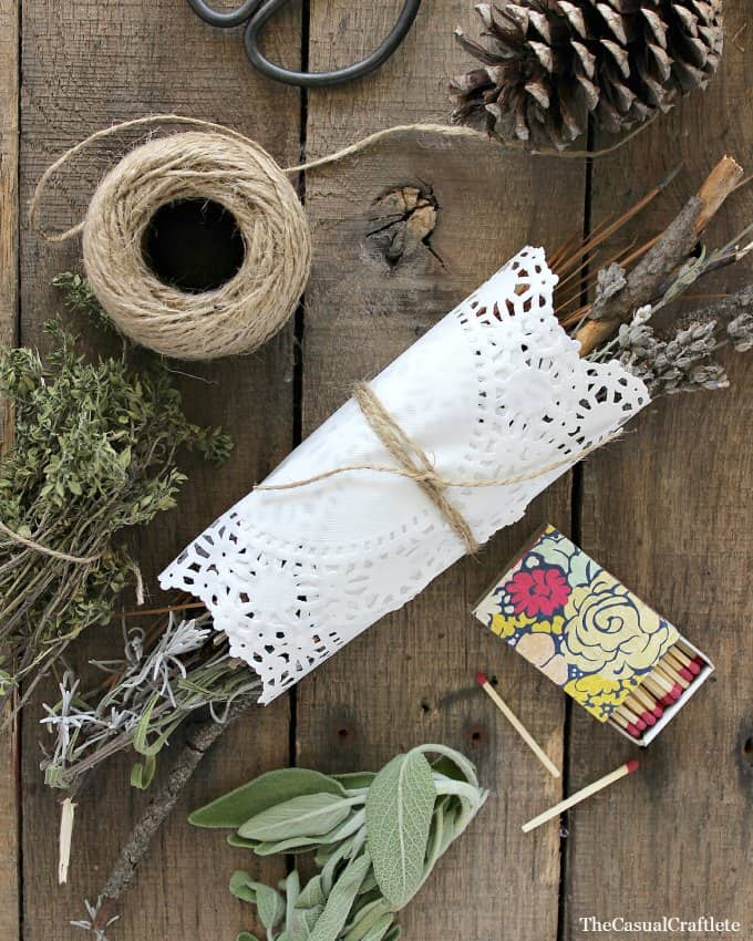 Dried Herb Fire Starter from www.thecasualcraftlete.com