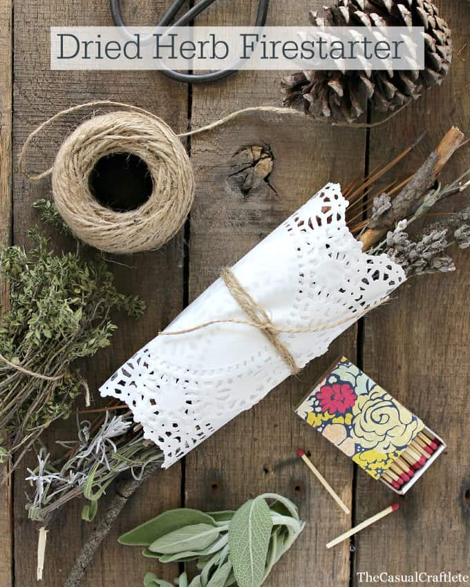 Dried Herb Firestarter by www.thecasualcraftlete.com