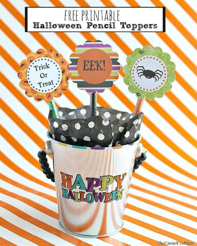 Free Printable Halloween Pencil Topper by www.thecasualcraftlete.com