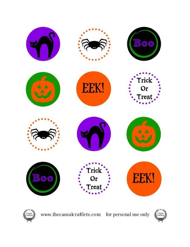 Halloween Printable Pencil Topper Pic