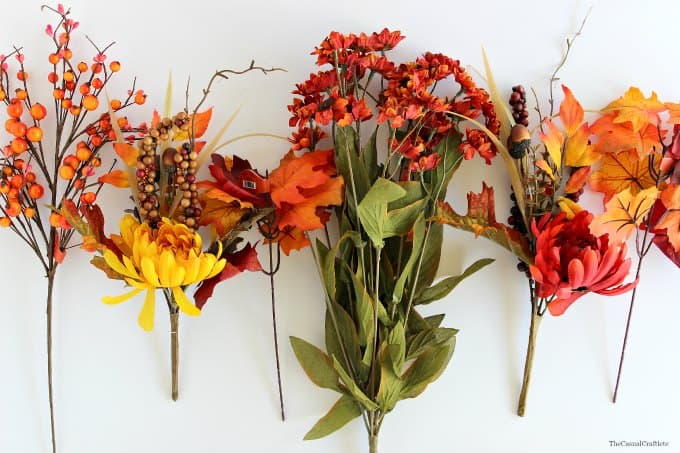 Artificial flower fall centerpiece