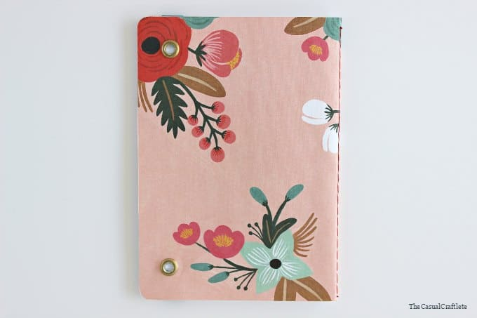 Back cover of the DIY Elastic Band Notebook