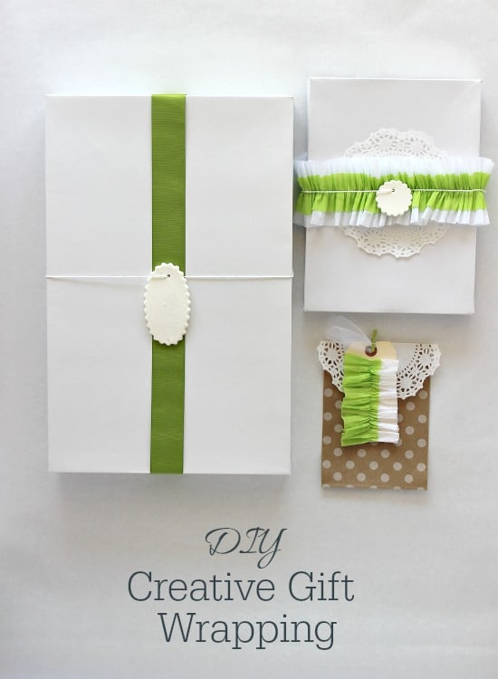 DIY Creative Gift Wrapping from www.thecasualcraftlete.com for www.livelaughrowe.com