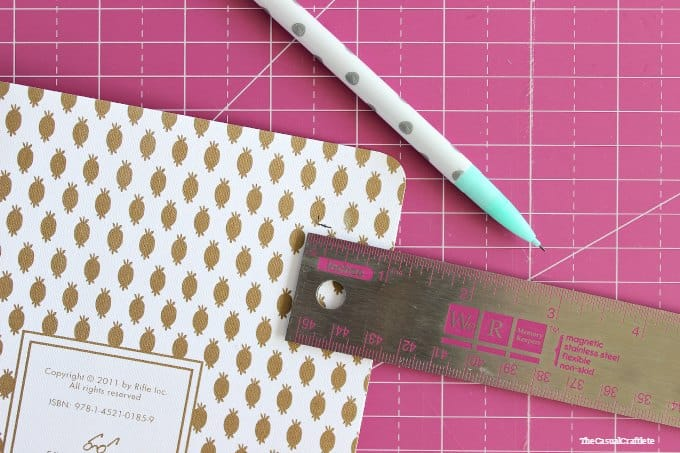 How to make an elastic band closure notebook
