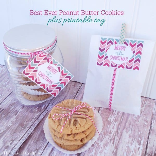 Best Ever Peanut Butter Cookies plus printable tag