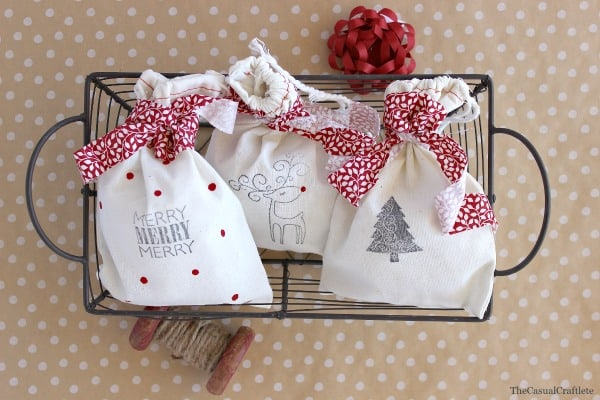 Diy stamped christmas gift bags gers best days of
