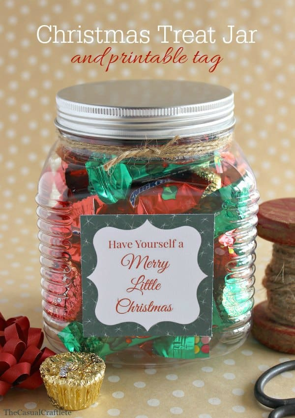 Christmas Treat Jar and printable tag