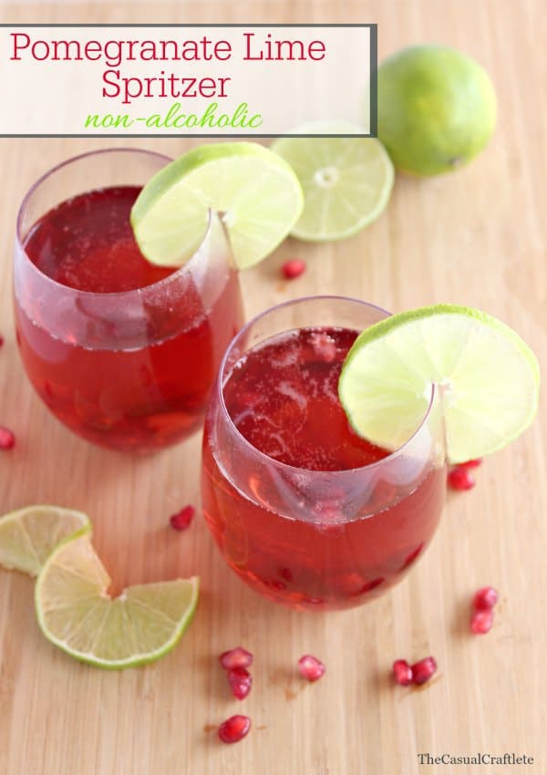 Pomegranate Lime Spritzer non-alcoholic