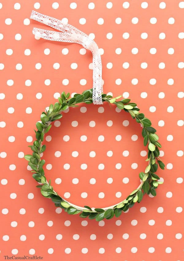 Simple Boxwood Wreath The Casual Craftlete