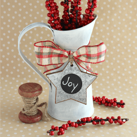 Chalky Paint Christmas Pitcher Vase + Giveaway