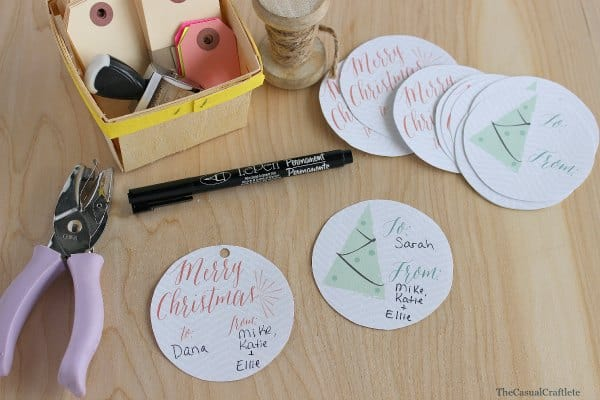 Christmas Tags from Delineate Your Dwelling's Etsy Shop