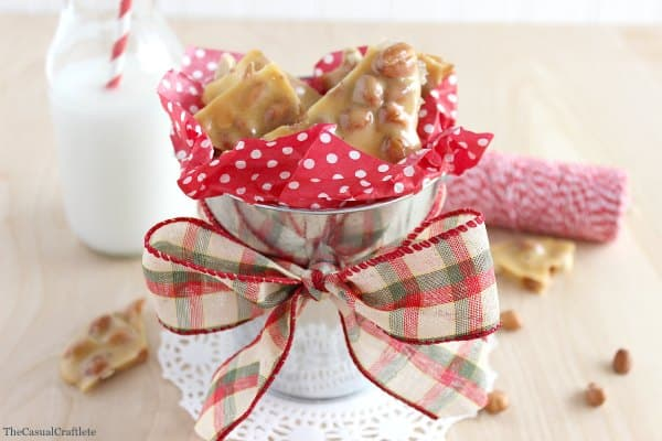 Easy Peanut Brittle for the holidays
