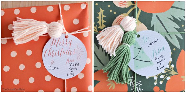 Printable Christmas Tags from Delineate Your Dwelling Etsy Shop