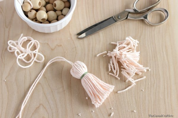 Step 6 DIY Yarn Tassel
