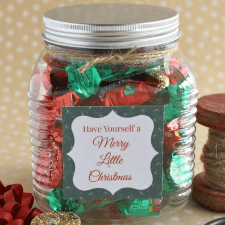 Christmas Treat Jar and printable tag