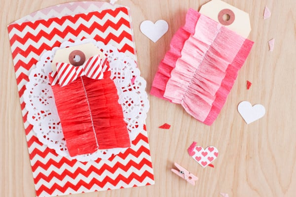 Sown Ruffle Crepe Paper Tags