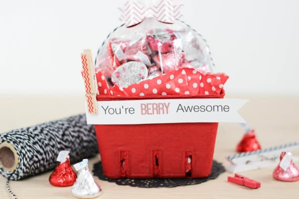 "Free Printable ""You're Berry Awesome"" Valentine Tags"