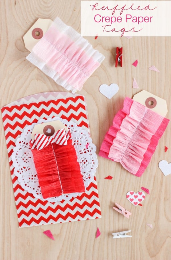 Ruffled Crepe Paper Tags by The Casual Craftlete