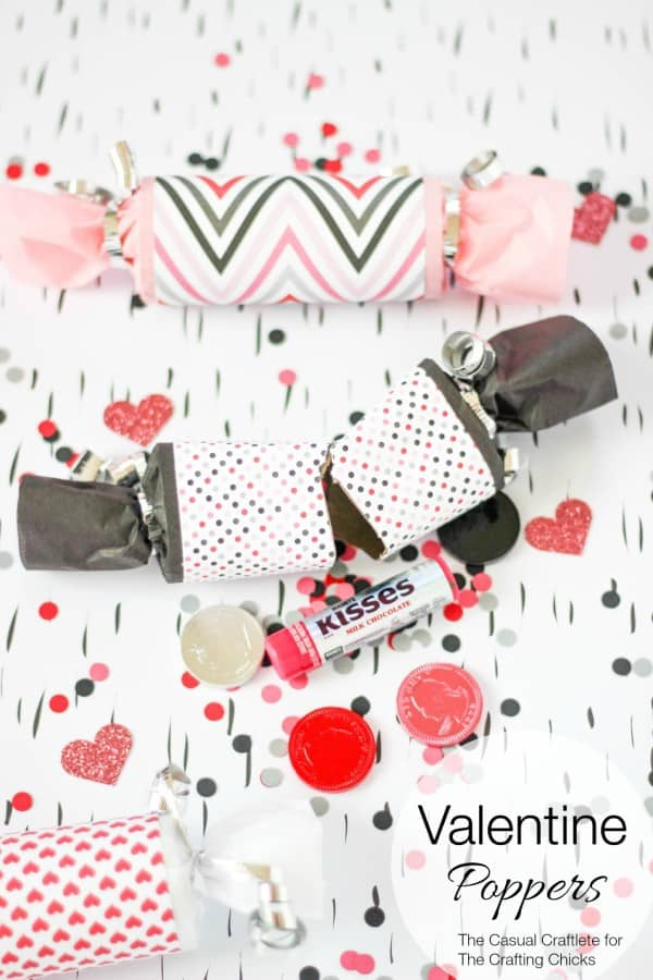 Valentine Poppers by The Casual Craftlete for The Crafting Chicks