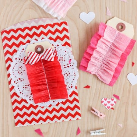 Ruffled Crepe Paper Tags
