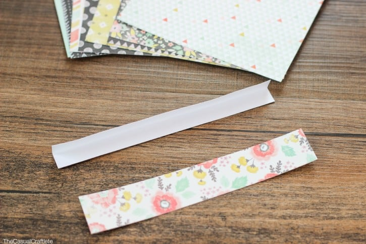 How to make scrapbook paper twist ties
