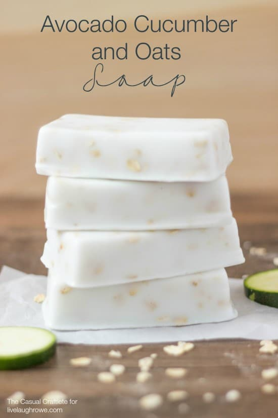 Avocado Cucumber and Oats Soap