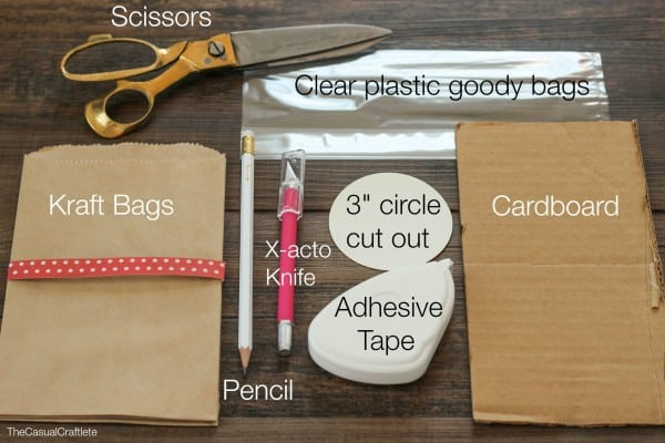 Materials for peek a boo paper bags