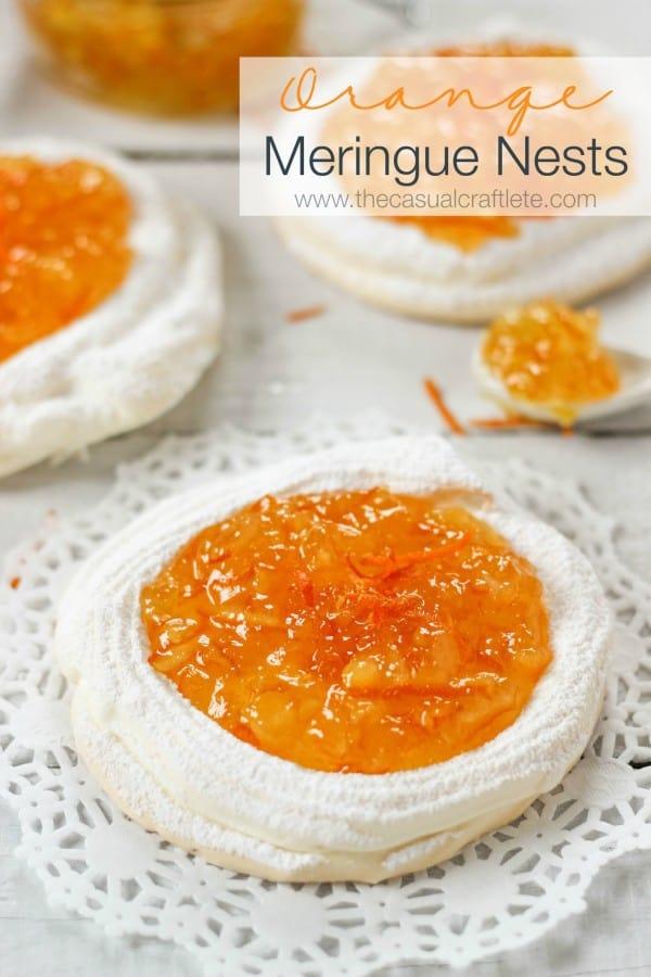 Orange Meringue Nests