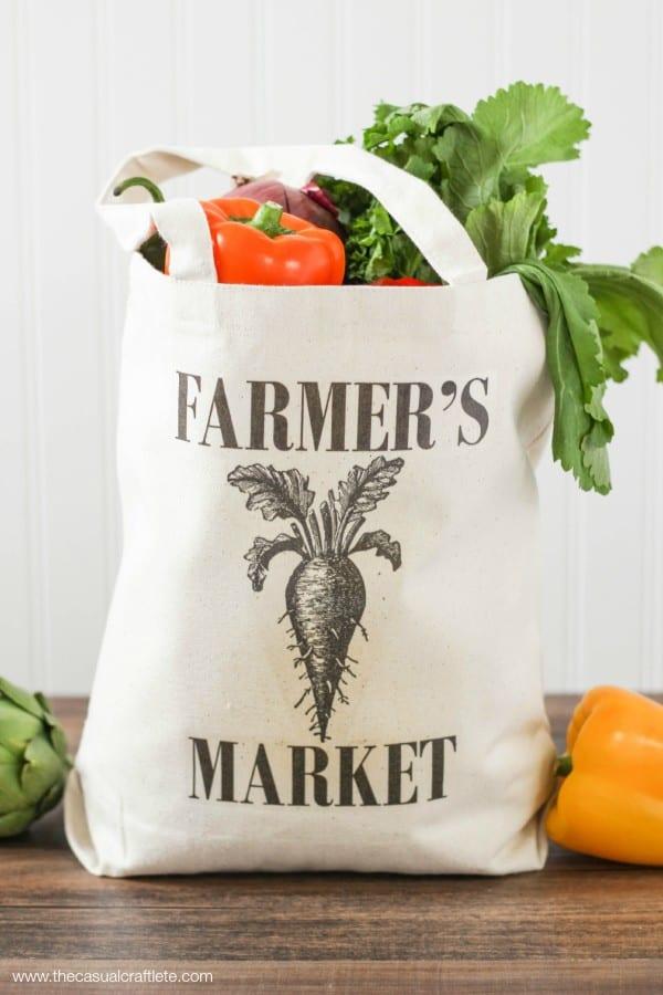 DIY Farmers Market Tote