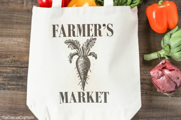 French Country Inspired Farmer's Market Tote Bag