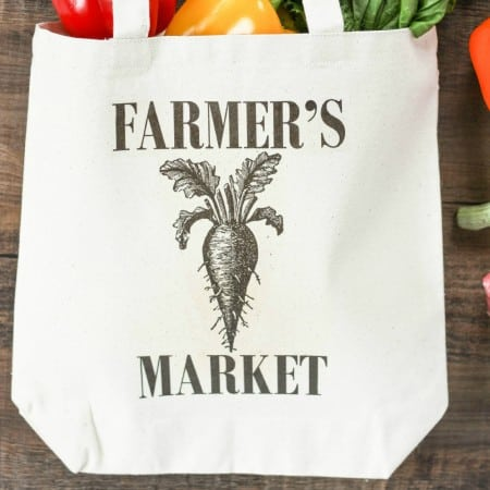DIY Farmer's Market Tote Bag