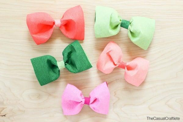 DIY Crepe Paper Bows
