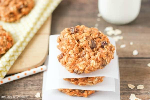 Healthier Carrot Cake Oatmeal Cookies