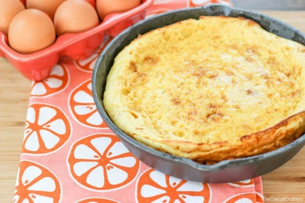 Dutch Baby Recipe with caramelized grapefruit