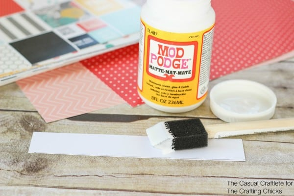 How to use mod podge to make scrapbook paper covered pencils